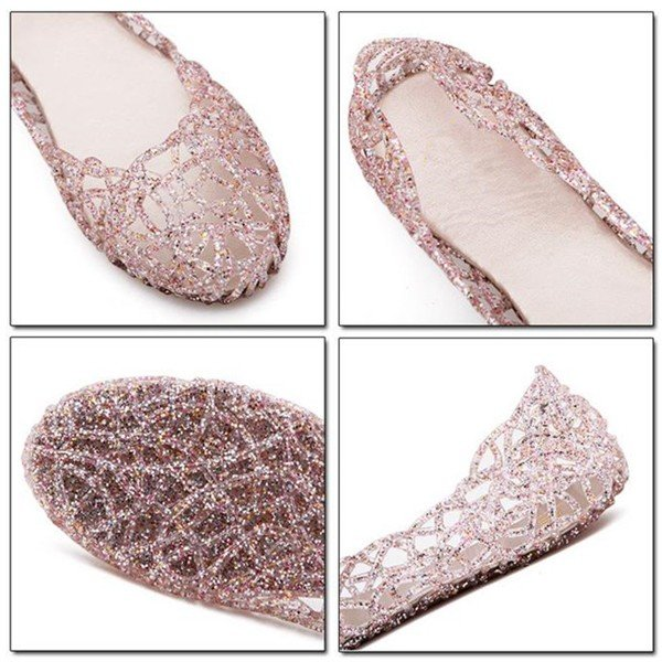 Bling Breathable Candy Color Flat Shoes - MagCloset