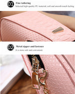 CLEARANCE-Universal Mini Vertical PU Storage Shoulder Bag Wallet With Metal Chain For 6.0 Inches Smartphone - MagCloset