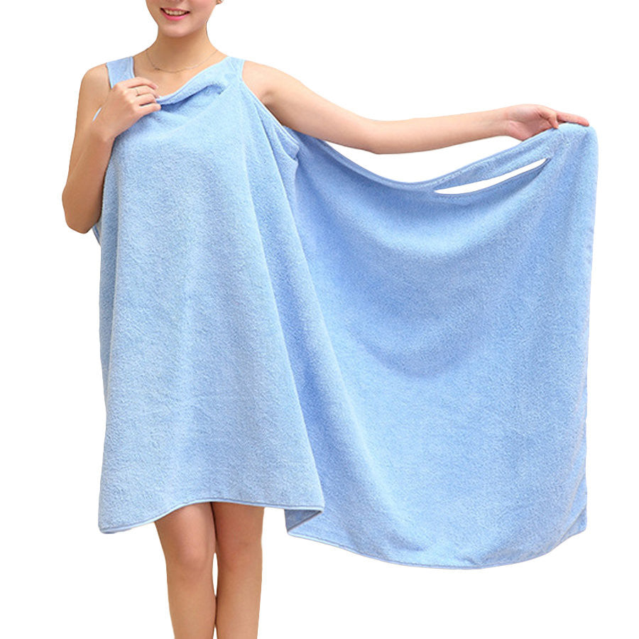 Soft Beach Able Wear Spa Bath Robe Plush Highly Absorbent Bath Towel Skirt