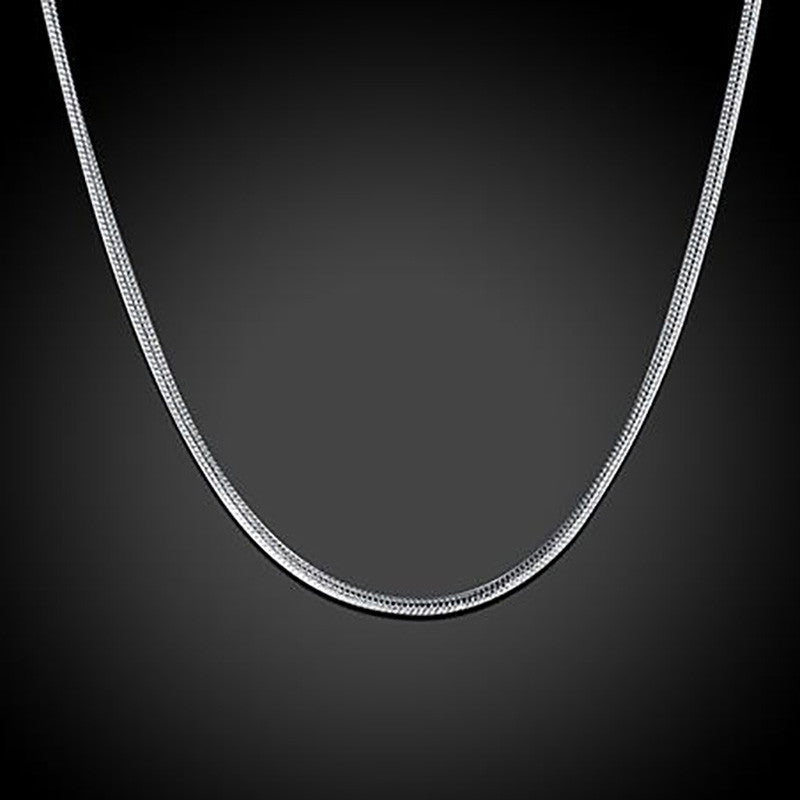 Fashion Different Sizes Silver Snake Chains Necklace - MagCloset