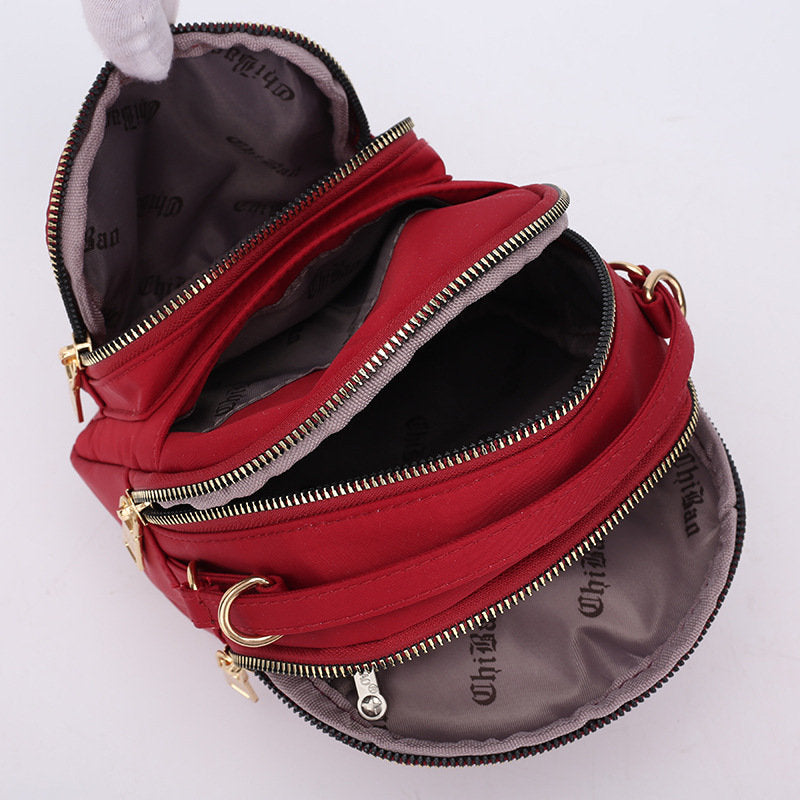 Women Nylon Shoulder Bag Casual 6 Inches Phone Bag Crossbody Bags