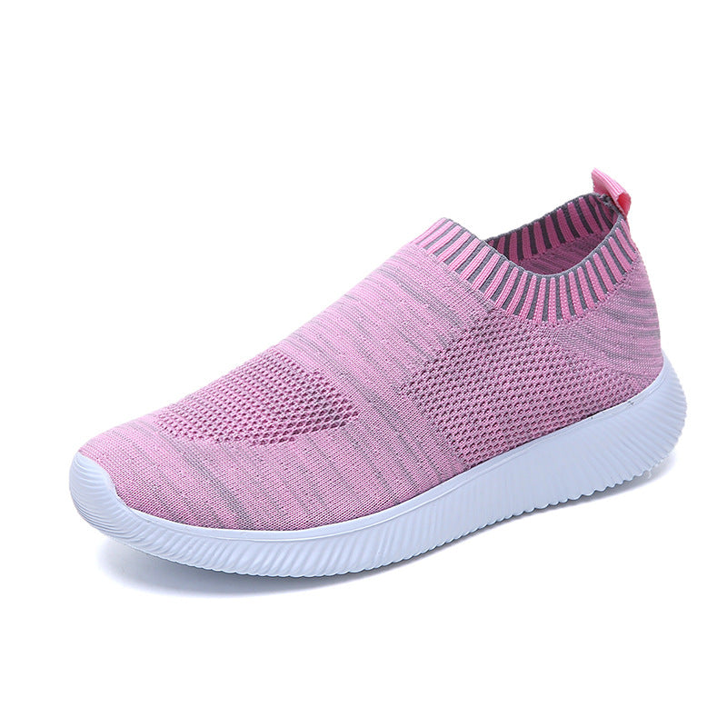 Plus Sizes Casual Knitting Sock Sneakers Stretch Slip On Shoes for Women