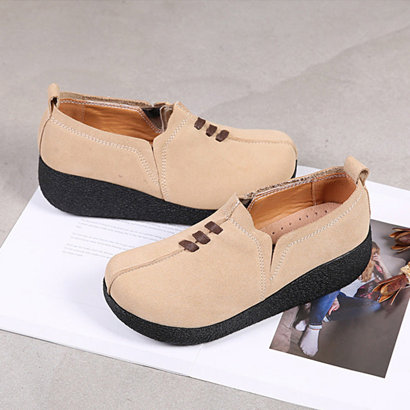 Women Comfy Platform Slip On Rocker Bottom Shoes