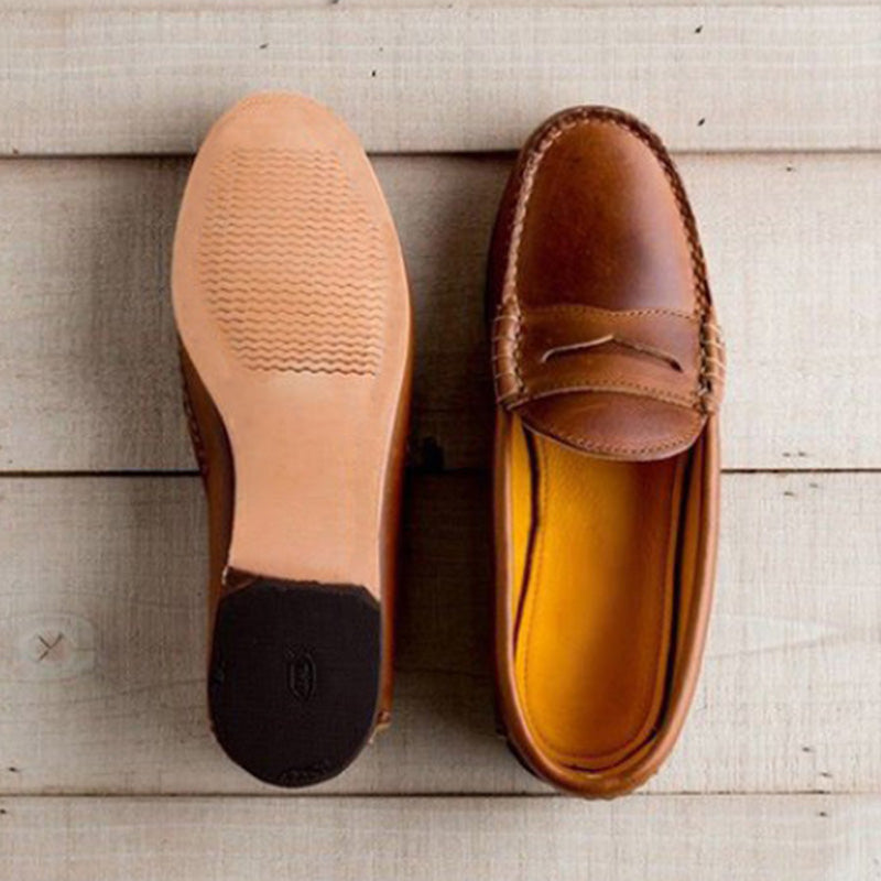 Plain Round Toe Casual Comfort Flat Loafers