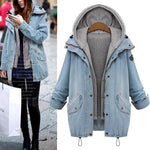 2 Pcs Set Basic Hooded Vest Denim Jacket