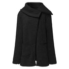 Big Lapel Irregular Zipper Coat - MagCloset