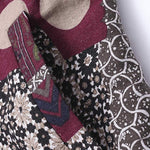 Floral Printed Hooded Warm Cotton Coats - MagCloset