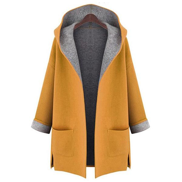 Big Pockets Long Sleeve Hooded Coats - MagCloset