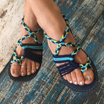Braided Flat Beach Sandals - MagCloset