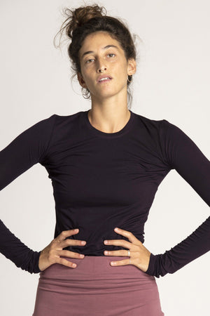 Basic Long Sleeve Top womens clothing rippleyogawear