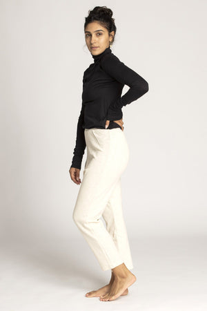 Cropped Cotton French Terry Pants womens clothing rippleyogawear