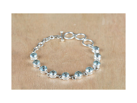 Awesome Blue Topaz Bracelet in Sterling Silver
