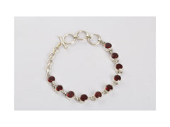 Best Selling Red Garnet Tennis Bracelet in Sterling Silver