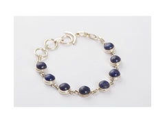 Guaranteed Genuine Lapis Lazuli Bracelet In Sterling Silver
