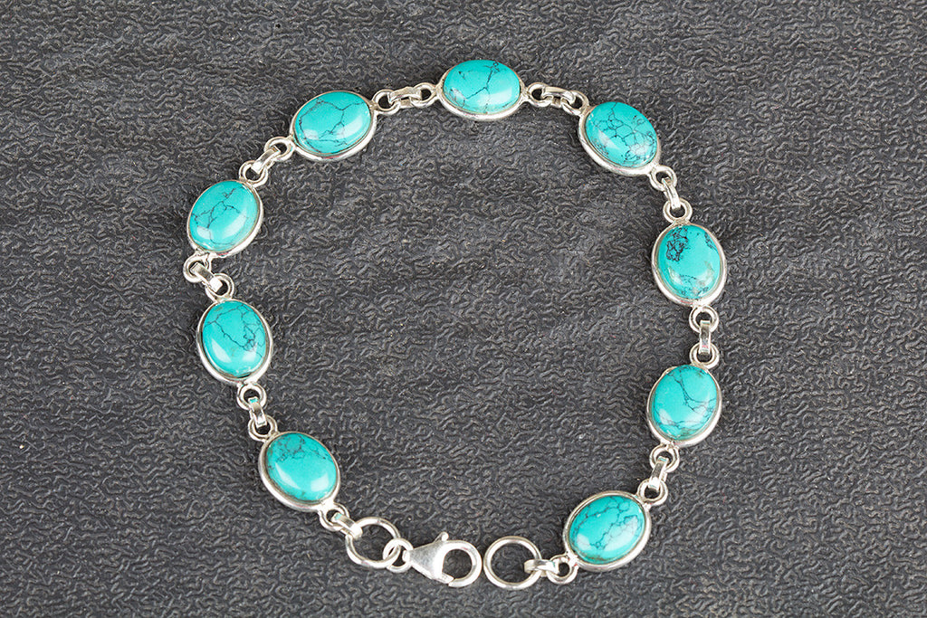 Awesome Sterling Silver Turquoise Bracelet