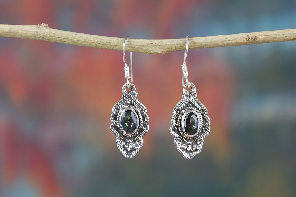Exclusive Mystic Topaz Earrings With Silver
