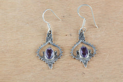 Amazing Sterling Silver And Amethyst Earrings