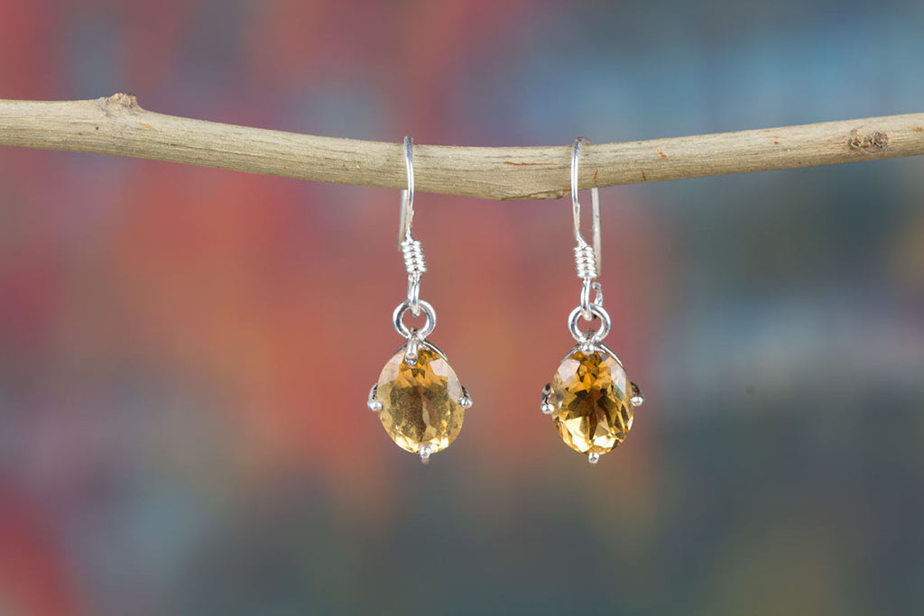 Best Quality Sterling Silver Citrine Earrings