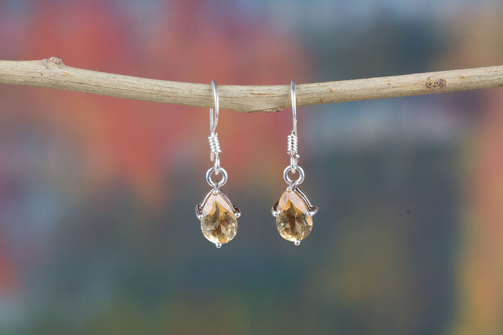 Genuine And Natural Citrine Jewelry Earrings