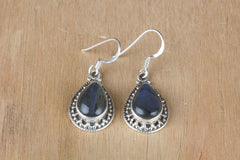 Awesome Labradorite Earrings In Sterling Silver