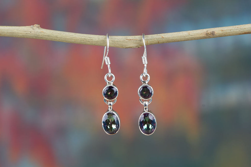 Discover Amazing Sterling Silver Mystic Topaz Earrings