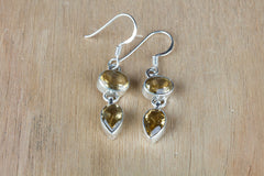 Buy Citrine Earrings In Sterling Silver