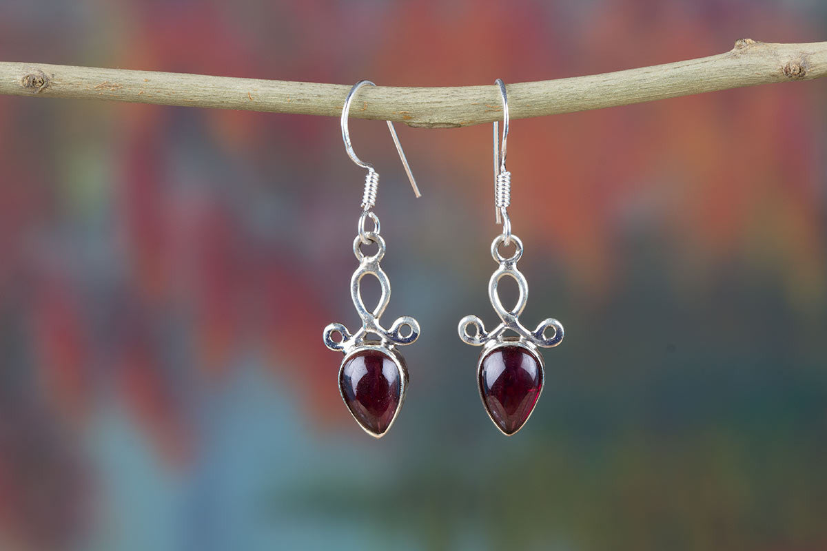 Amazing Garnet Earrings Jewelry Earrings