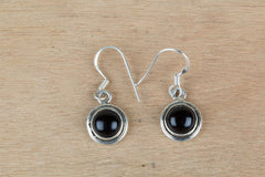 Amazing Black Onyx Handmade Silver Earrings
