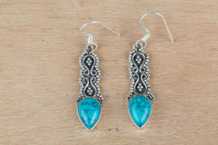 Precious 925 Silver Turquoise Earrings For Women