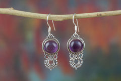 Amazing Amethyst Drop Earrings For Sale