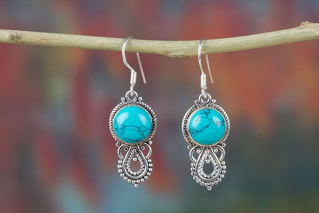 Best-Selling Turquoise And Silver Earrings On Sale