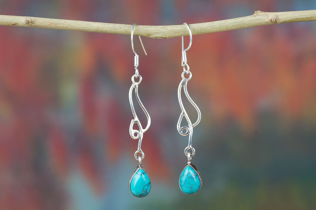 Hot Special Genuine Turquoise Earrings