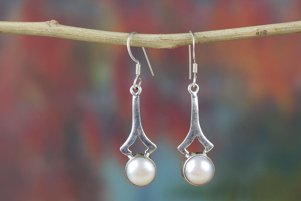 Handmade Sterling Silver Earring With Pearl