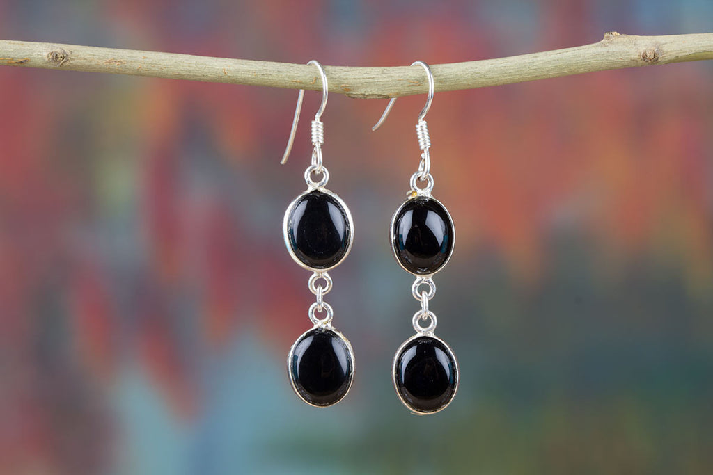 Buy Authentic Onyx Silver Earrings