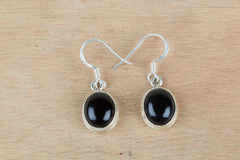 For Sale Handmade Black Onyx And Sterling Silver Earrings