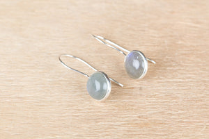Genuine Labradorite Earrings In Sterling Silver