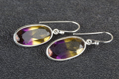 Amtrine Lab Gemstone 925 Silver Earring
