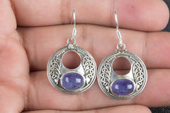 Amazing Handmade Tanzanite Gemstone 925 Silver Earring
