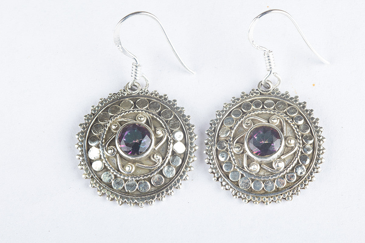 duggan round julie designs earrings gemstone topaz mystic shop drop