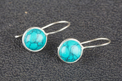 Turquoise Gemstone 925 Silver Earring