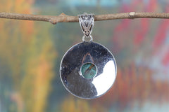 Handemade Turquoise Gemstone 925 Silver Pendant