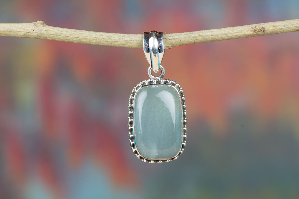 Awesome Aqua Chalcedony Handmade & Pure 925 Sterling Silver Pendant