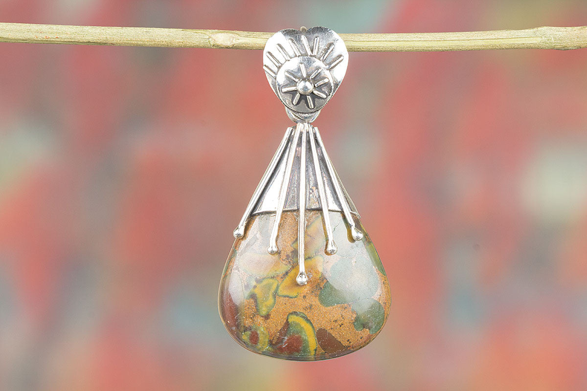 Awesome Jasper Gemstone 925 Sterling Silver Pendant