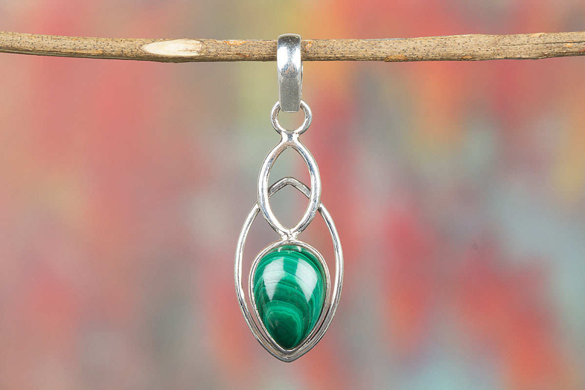Niambain Malachite 925 Silver Green Color Pendant