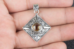 Awesome Handmade Citrine Gemstone 925 Silver Pendant