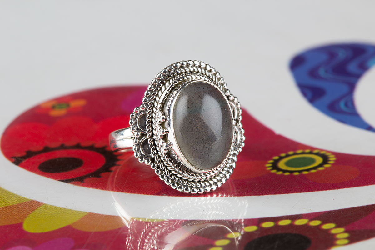 Beautiful Handmade Labradorite Ring In Sterling Silver