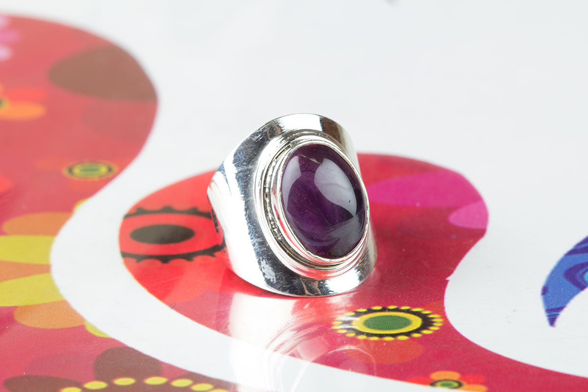Amazing Handmade Amethyst Ring In Sterling Silver