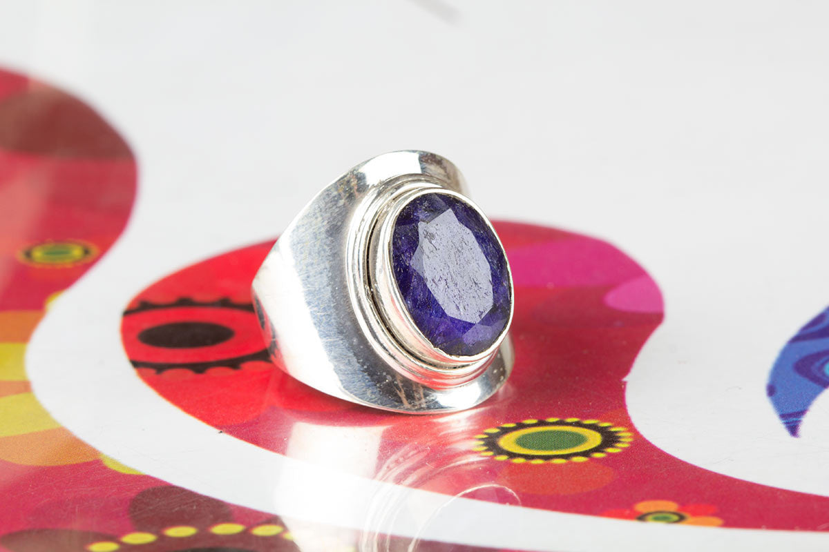 Authentic Sapphire And Sterling Silver Ring