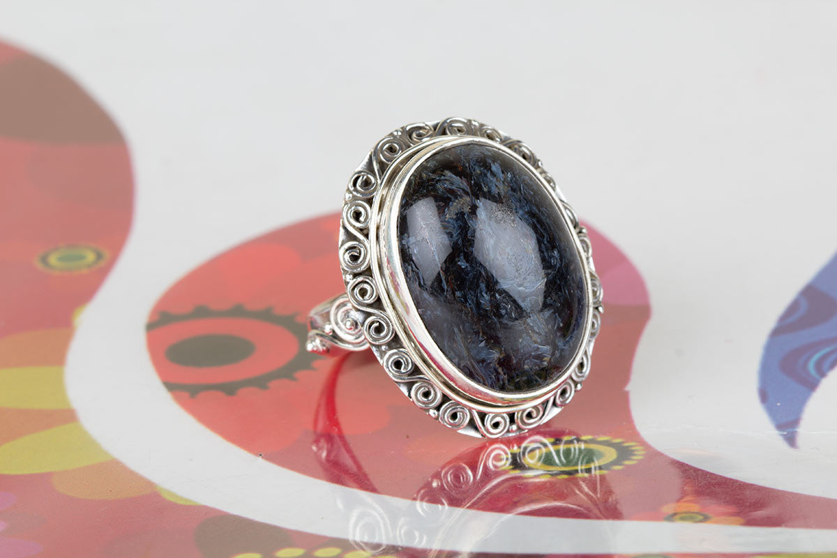 Amazing 925 Sterling Silver Pietersite Gemstone Ring