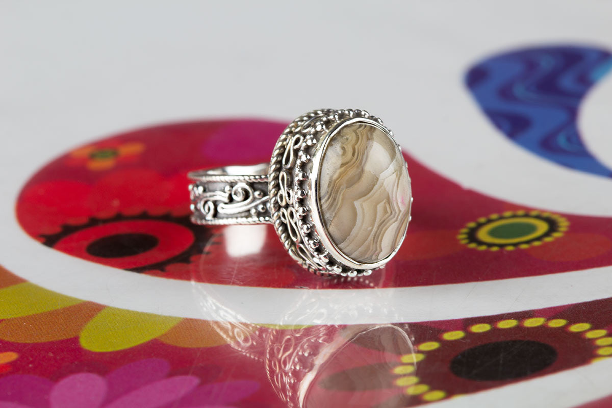 Precious Handmade Jasper Gemstone 925 Silver Ring All Size